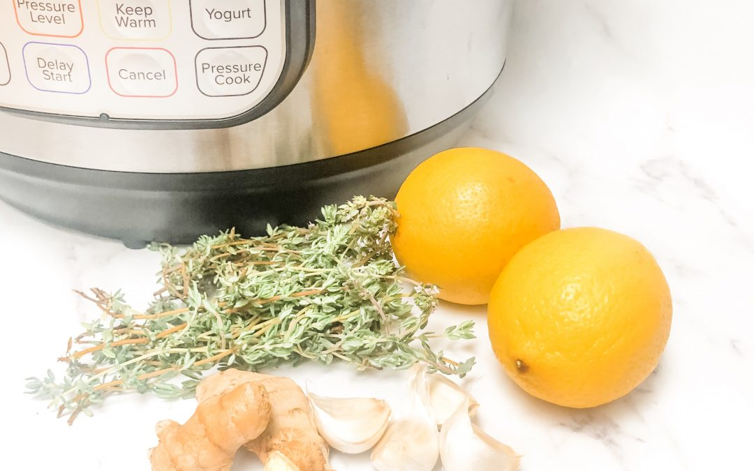 Thyme, Ginger & Honey Instant Pot Cough Syrup