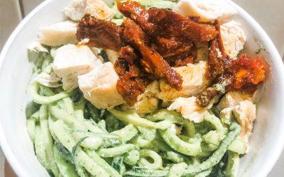 Raw Pesto Zoodle Pasta